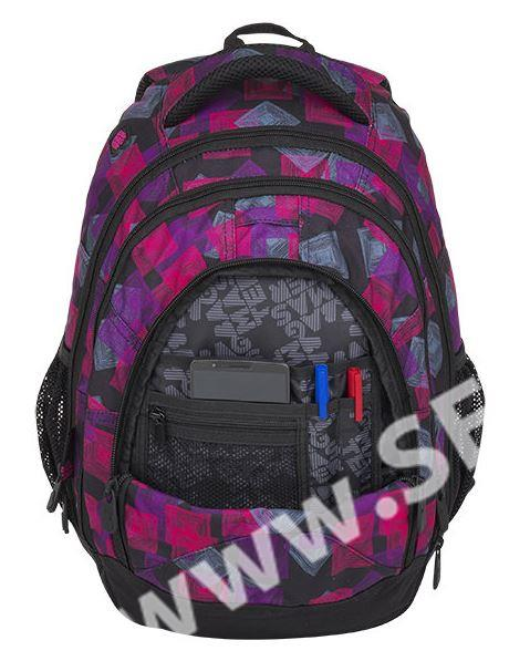 Studentský batoh Bagmaster - ENERGY 8 E BLACK PINK VIOLET - SEVT.cz df3fb63a8e