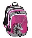 Školní batoh Bagmaster - ALFA 8 B PINK/BLACK/WHITE