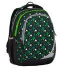 Školní batoh Bagmaster - MAXVELL 8 B BLACK/GREEN/WHITE