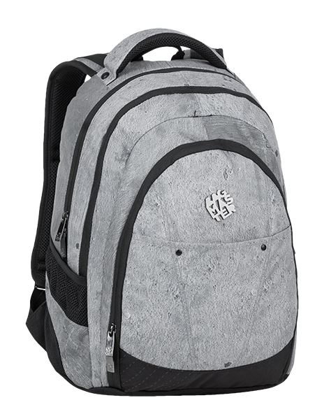 Studentský batoh Bagmaster - DIGITAL 9 E GRAY/BLACK