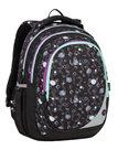 Školní batoh Bagmaster - MAXVELL 9 A BLACK/GRAY/VIOLET