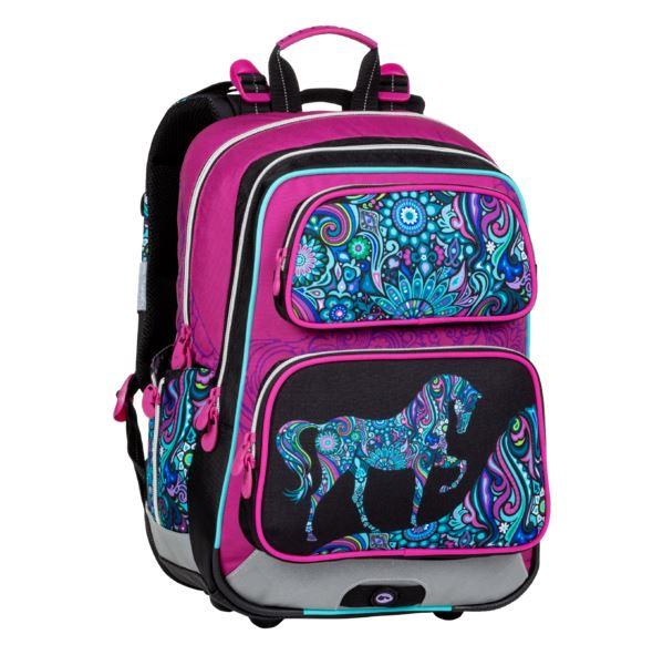 Školní batoh Bagmaster - GEN 20 A PINK/BLACK/VIOLET/BLUE