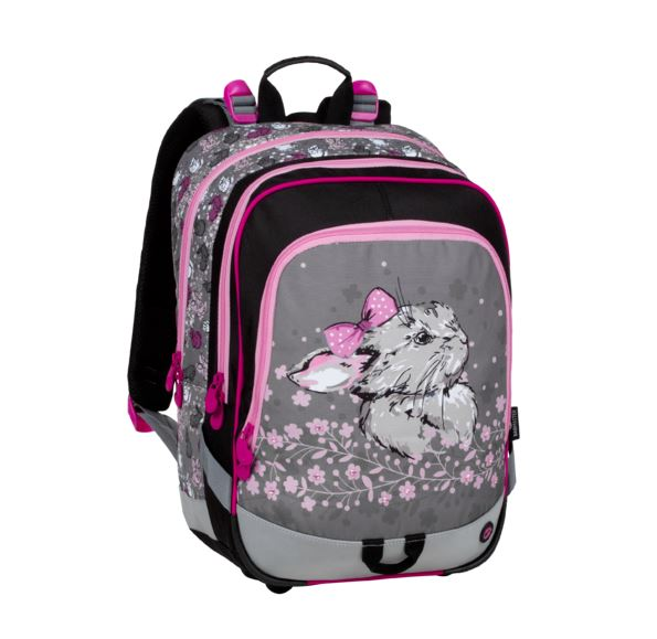 Školní batoh Bagmaster - ALFA 20 B PINK/GRAY/BLACK