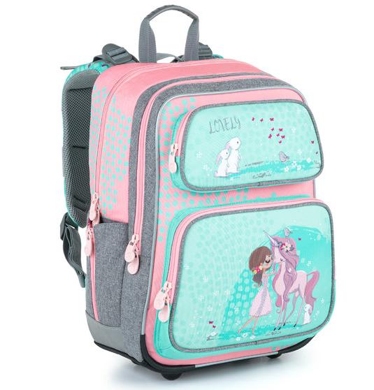Školní batoh Bagmaster - GEN 21 A PINK/GREEN