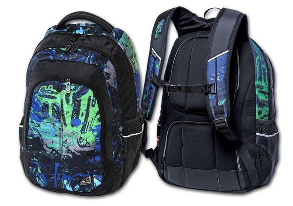 Studentský batoh Walker - Spray Day Green