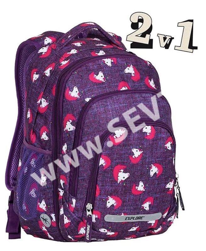 d5d44c41203 Studentský batoh Explore 2v1 BAR Horses - SEVT.cz