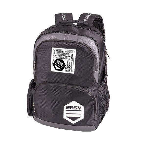 Studentský batoh Easy - šedočerný