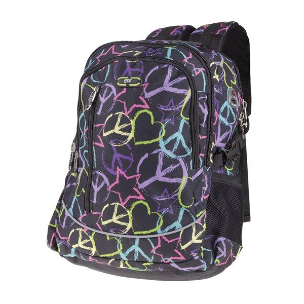 Studentský batoh Easy - Peace - černá