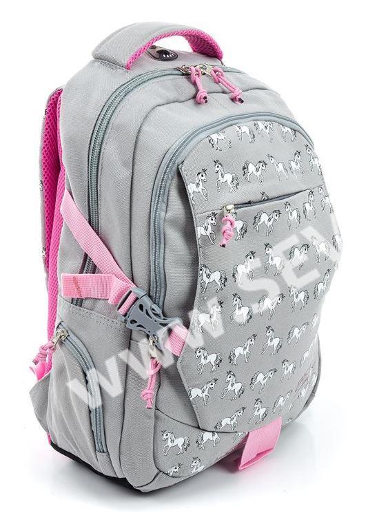 af0efd51e0b Studentský batoh dvoukomorový Easy - šedý s jednorožci · 58144616320.1.JPG  · 58144616320.2.