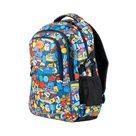 Studentský batoh tříkomorový Easy - modrý Comics
