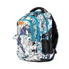 Studentský batoh tříkomorový Easy - modro-bílý