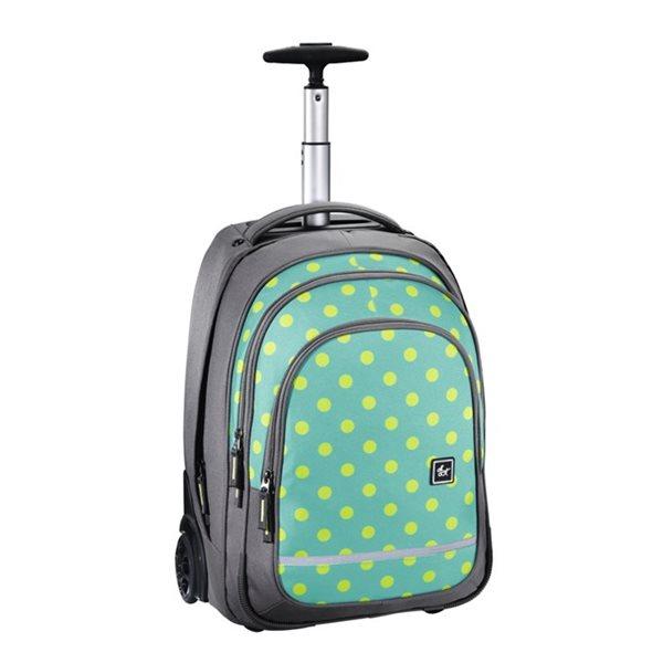 Školní batoh na kolečkách - Mint Dots, Doprava zdarma