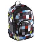 Školní batoh CoocaZoo - RayDay - Checkmate Blue Red