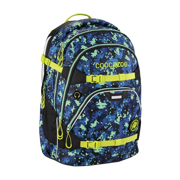 99d17abc816 Školní batoh CoocaZoo - ScaleRale - GlowBro Pixel night reflexní