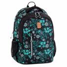 Školní batoh Ars Una AU12 - černo-zelené květy
