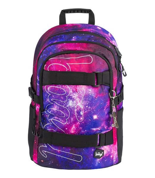 BAAGL Školní batoh Skate - Galaxy