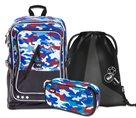 Školní set BAAGL - Cubic Army (batoh + penál + sáček)