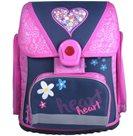 Školní batoh Premium - Srdce růžové