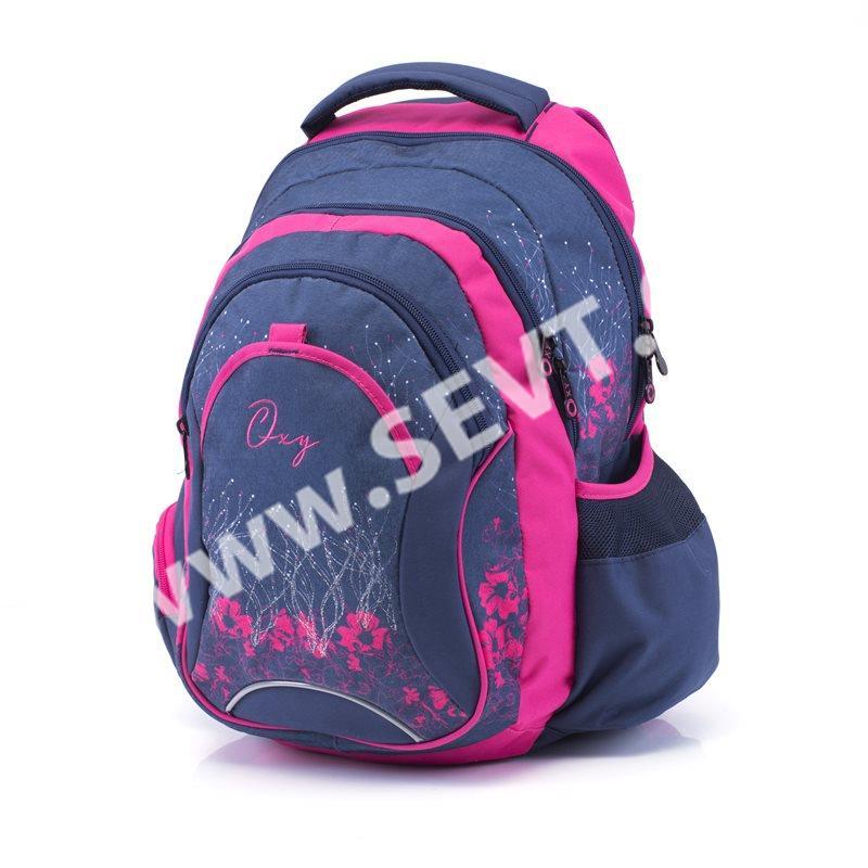 Karton PP Školní batoh OXY Fashion - Pink Flowers - SEVT.cz 263387861c