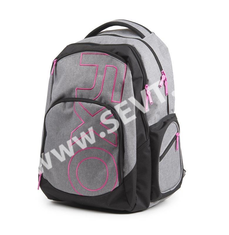 dd6bc8c5825 Studentský batoh OXY STYLE GREY LINE - Pink - SEVT.cz