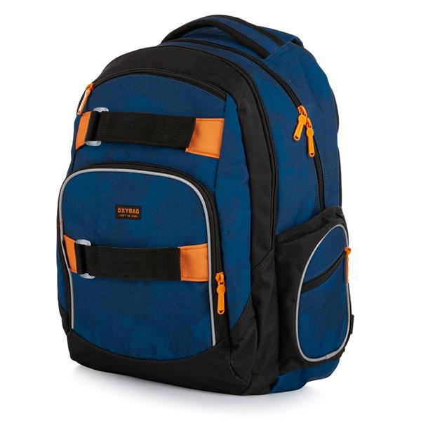 Studentský batoh OXY STYLE - Camo blue