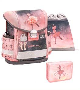 Školní set Belmil - Ballerina Black Pink (aktovka + penál + sáček)