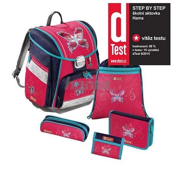 Školní aktovka Hama Step by Step - 5 dílný set - Motýl, Doprava zdarma