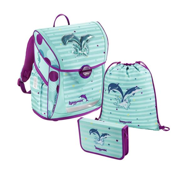 Školní aktovka Hama - Baggymax Fabby - Delfínci - 3 dílný set