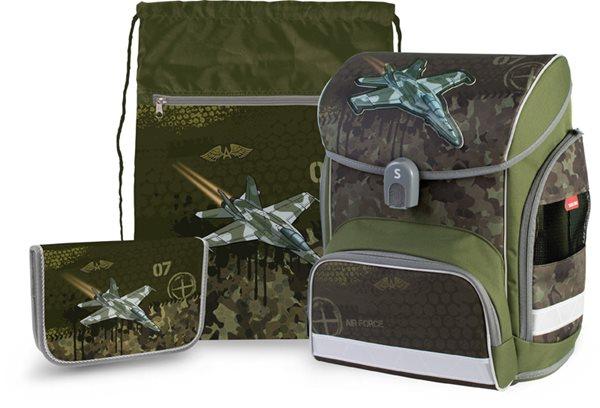 Školní set Stil - Air force (aktovka + penál + sáček)