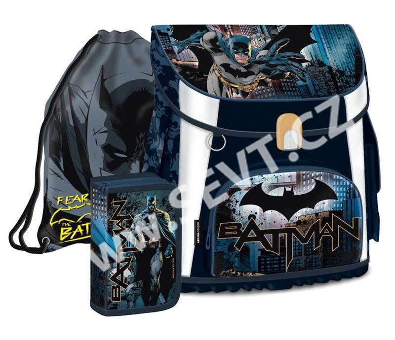Školní set Ars Una - Batman 17 - aktovka + penál (plný) + sáček na cvičky 0743d4da8f