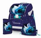 Školní set OXY PREMIUM FLEXI Unicorn/Jednorožec (aktovka + penál - plný + sáček)