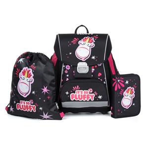 Školní set OXY PREMIUM FLEXI - Fluffy (aktovka + penál + sáček)