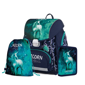 Školní set OXY PREMIUM - Unicorn/Jednorožec 2020 (aktovka + penál + sáček)