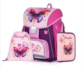 Školní set OXY PREMIUM - Motýl / Butterflies 2021 (aktovka + penál + sáček)