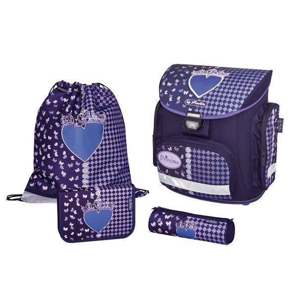 Školní batoh Herlitz Midi - Srdce - vybavený, Doprava zdarma