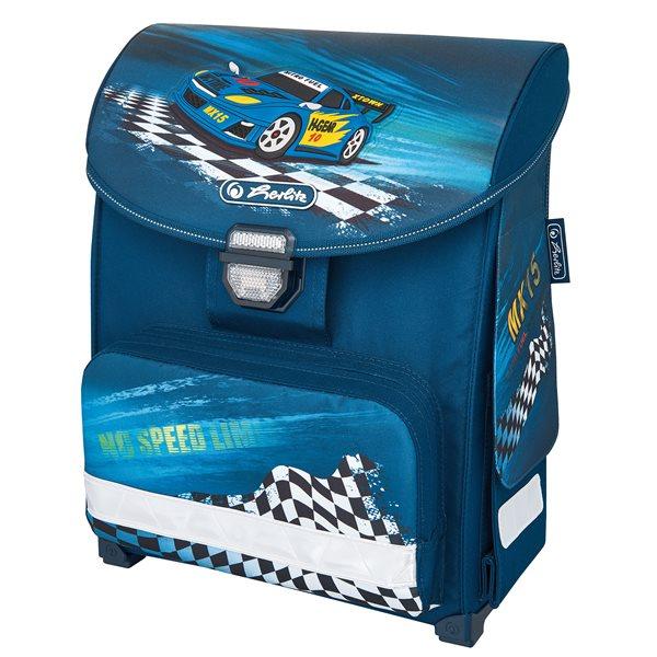 Školní aktovka Herlitz Smart - Auto modré