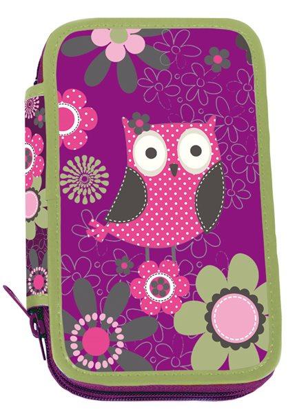 Školní penál třípatrový Owl