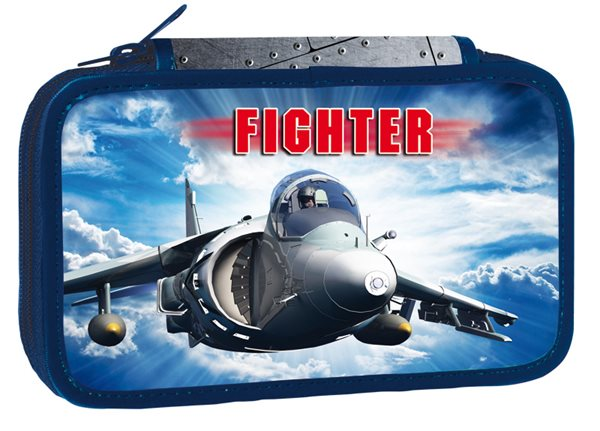 Školní penál třípatrový - Fighter