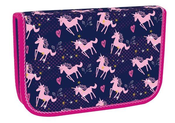 Školní penál jednopatrový Pink Unicorn