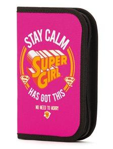 BAAGL Školní penál Supergirl – STAY CALM