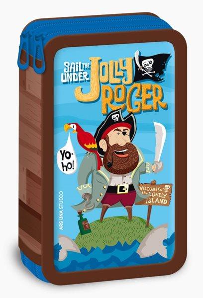 Školní penál 2-patrový Ars Una Jolly Roger