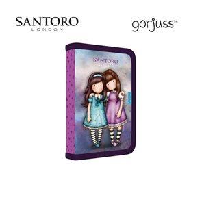 Penál 1patrový 2 klopy prázdný - Santoro Gorjuss / Friends walk together