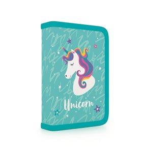 Penál 1patrový s chlopní naplněný - Unicorn iconic