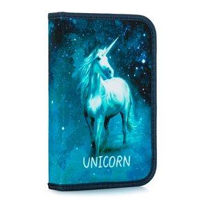 Penál 1patrový s chlopní naplněný - Unicorn/Jednorožec 2020