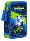 Penál 2patrový prázdný OXY - Football blue