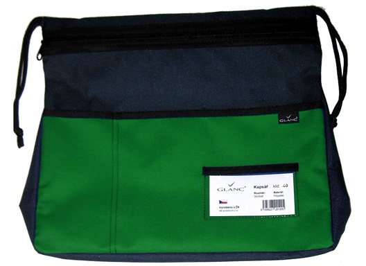 Kapsář na lavici GLANC - tmavě zelený