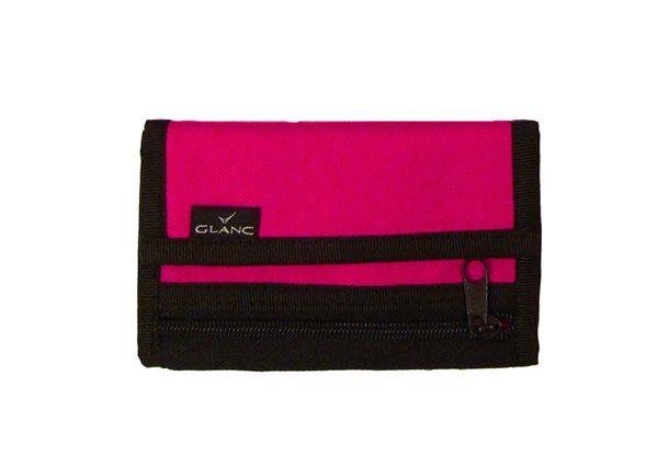 Peněženka GLANC - tmavě růžová