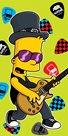 Dětská osuška - Bart guitar