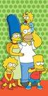 Osuška - Simpsons family bavlna-froté 75x150 cm