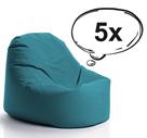 SakyPaky Sada 5 sedacích vaků Klííídek